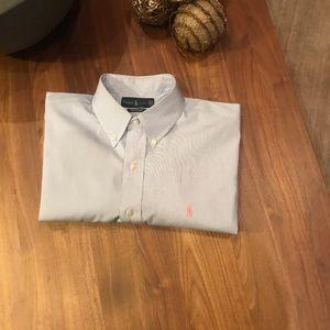 Ralph Lauren Mens  shirt pinstriped 16.5 34 35
